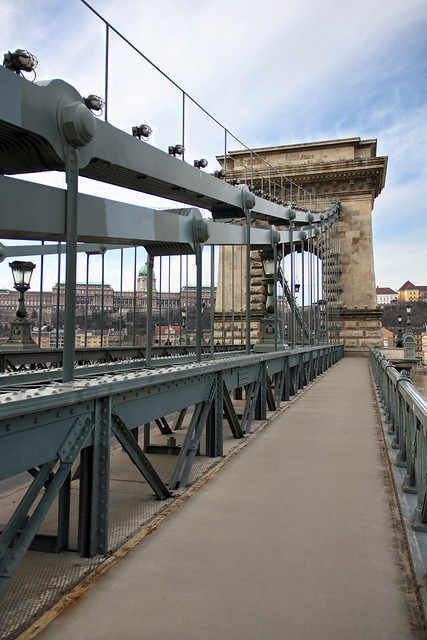 Walking through the Chain Bridge