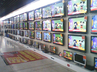 TV's at Warrrmart   by lhepler