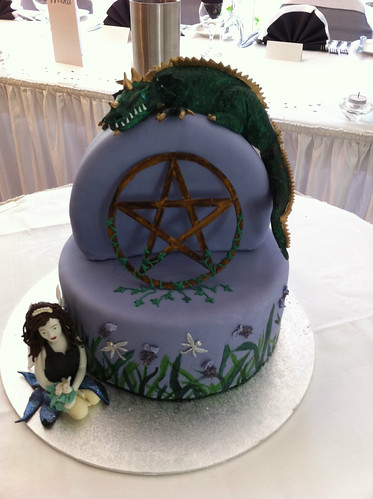 Pagan dragon fairy wedding cake | by Becs Cakes