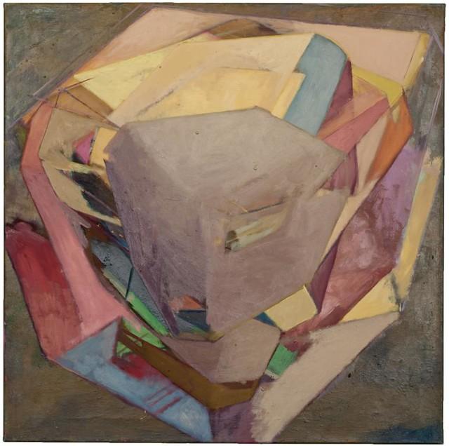 CerroM 75 x75 cm Eitempera/Pigmente auf Nessel,2011