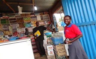 A business in South Sudan benefiting from microfinance