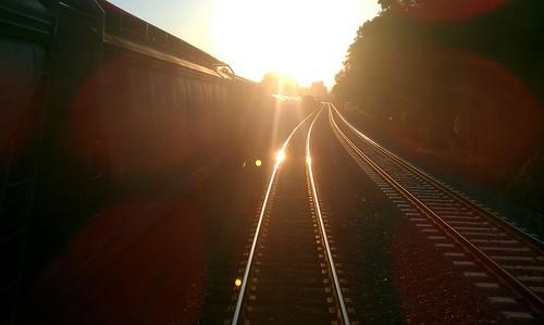 railroad train sunrise landscape day clear rails commuter vre flickrandroidapp:filter=none