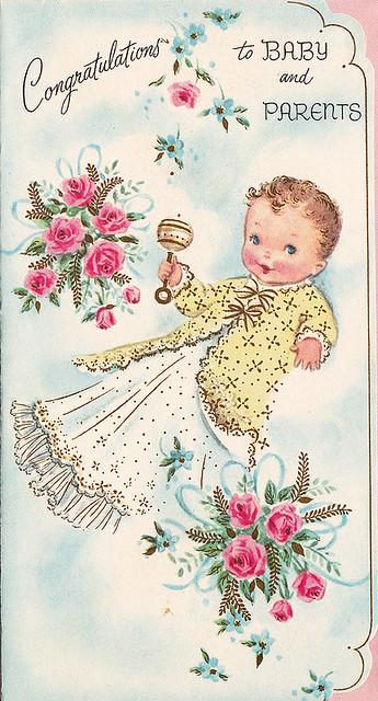 Vintage Greeting Card - Baby