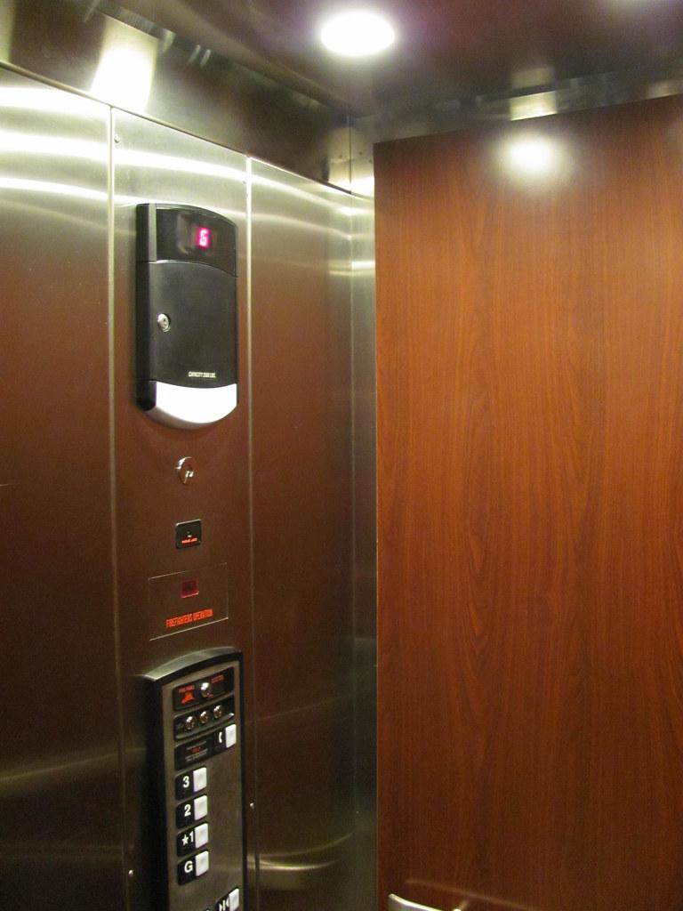 Schindler HT Elevator | The inside of a newer Schindler HT h