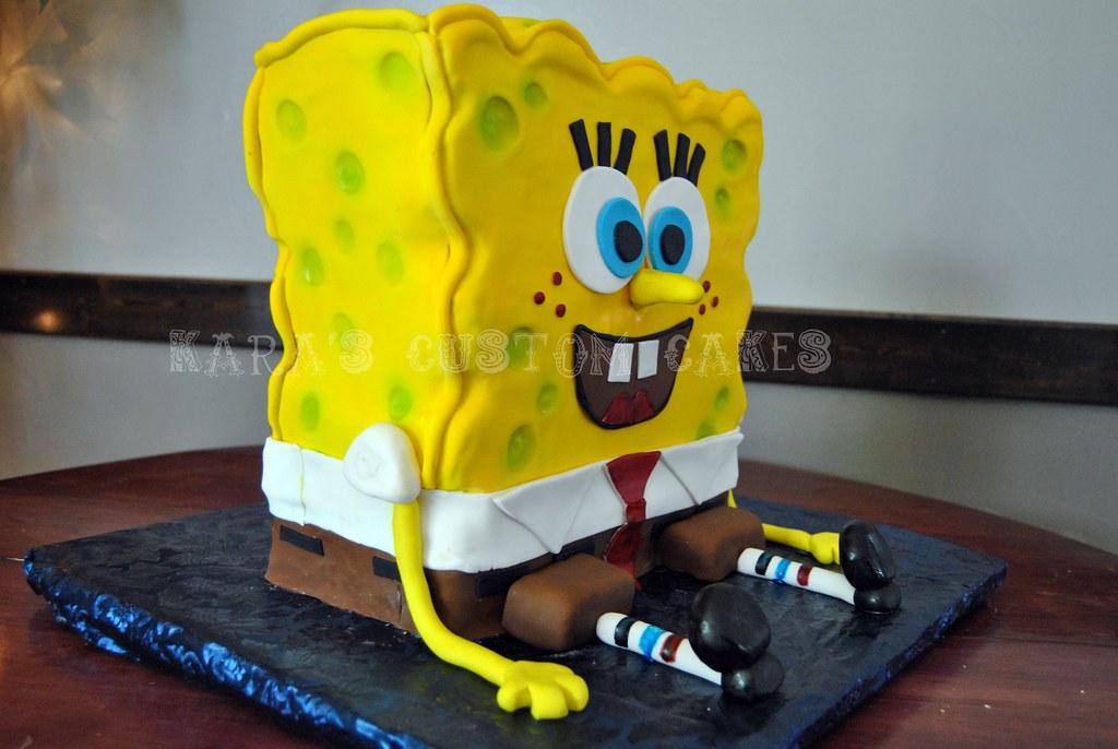 Spongebob Squarepants Birthday Cake | Spongebob Squarepants … | Flickr