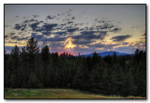 trees sunset mountains colors clouds washington deerpark