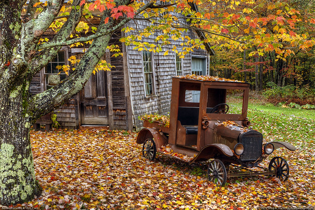 Autumn Leaves and 1925 Ford