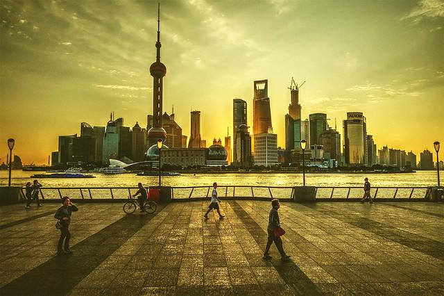 Shanghai Bund morning view