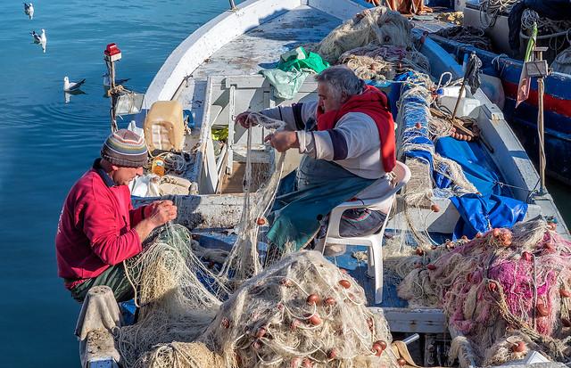 Old fishermen - Trani