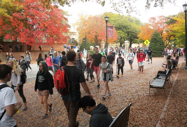 Late November at USC...