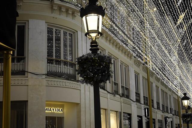 Navidad en Málaga, calle Larios