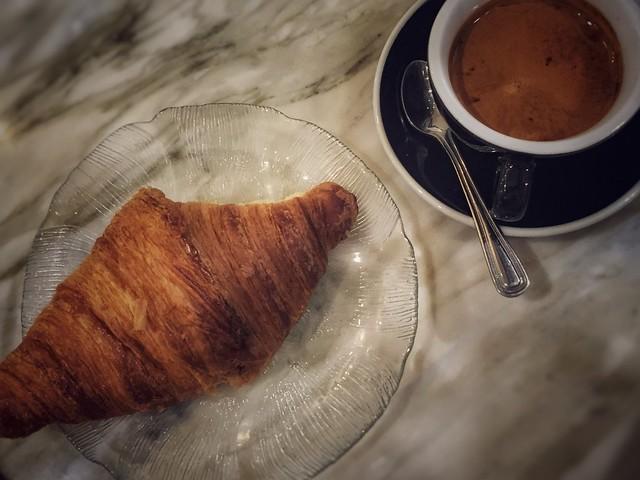 Espresso & Croissant - Cafe Mryiade - Montreal, Quebec