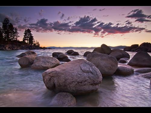sunset lake water clouds purple nevada laketahoe sandharbor