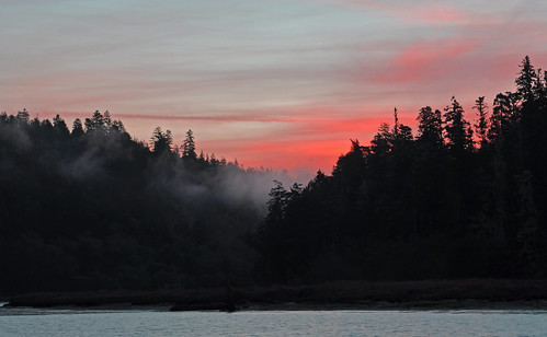 winter sunrise mendocino californiacoast bigriver