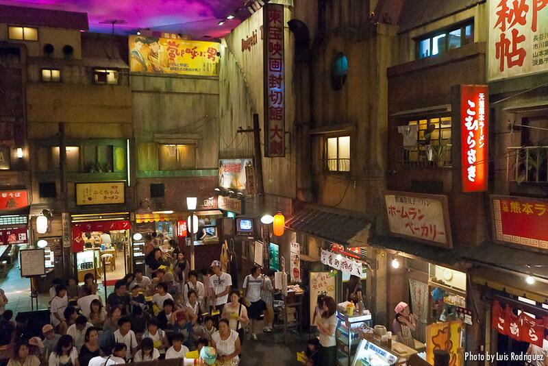Interior del museo de ramen de Yokohama