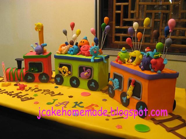 Mr.Men and Little Miss birthday cake
