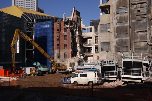 Gutted buildings at Myer Melbourne