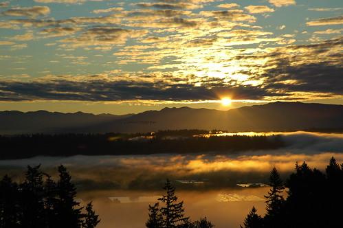 sky fog clouds sunrise nikond70 wahsingtonstate