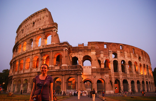 Me, in front of the Colosseum