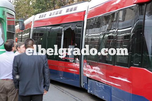 Spanish tram crashed in the center of Belgrade   by elbelgrado