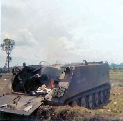 1/5 Inf  Bobcat M113 track hit by RPG, May 1968 | This pictu… | Flickr
