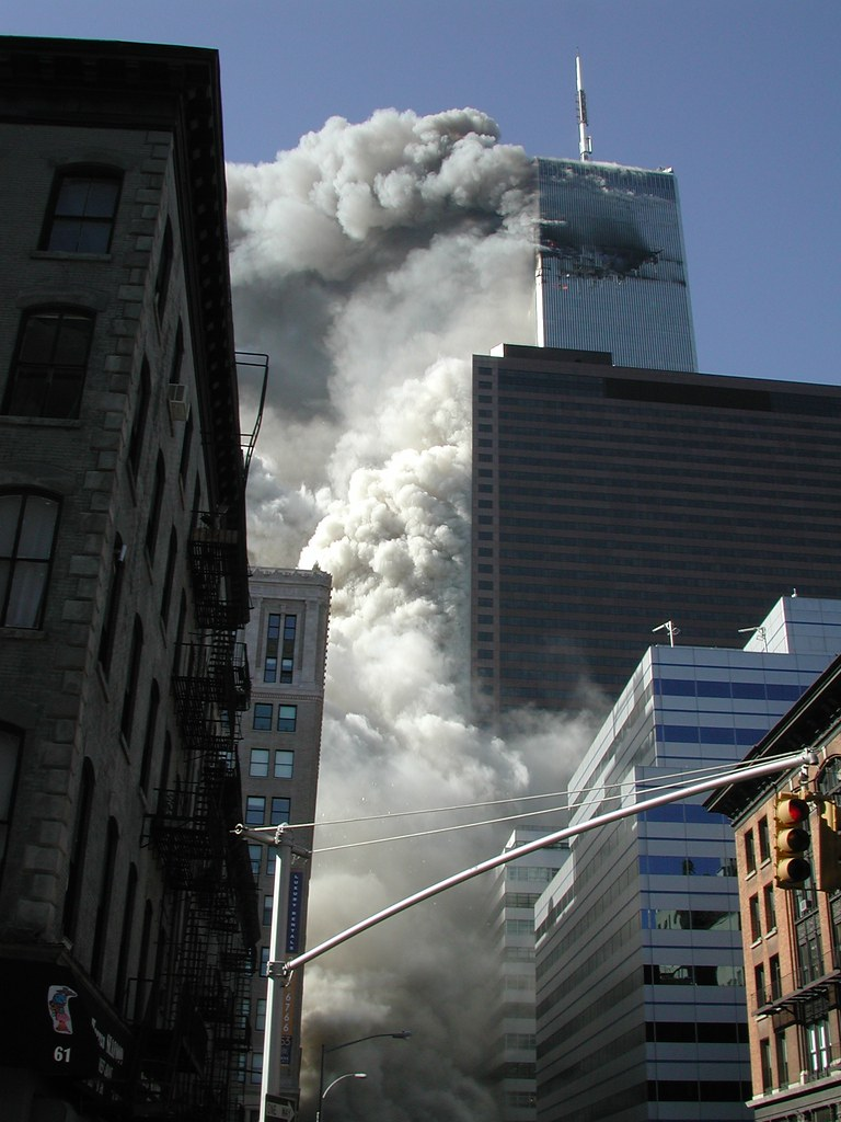South Tower Collapse  George Hackett  Flickr-5304