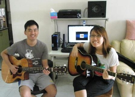 Beginner guitar lessons Singapore Kai Jun