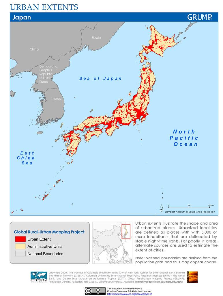 Japan Urban Extents