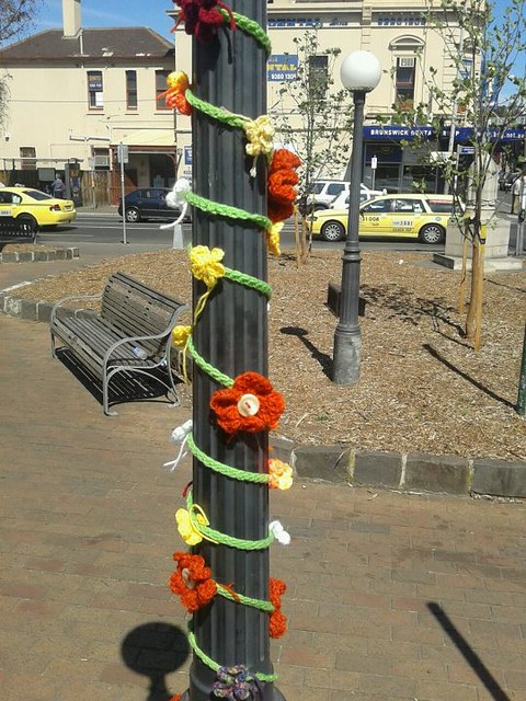 Yarn Bomb - lamp post