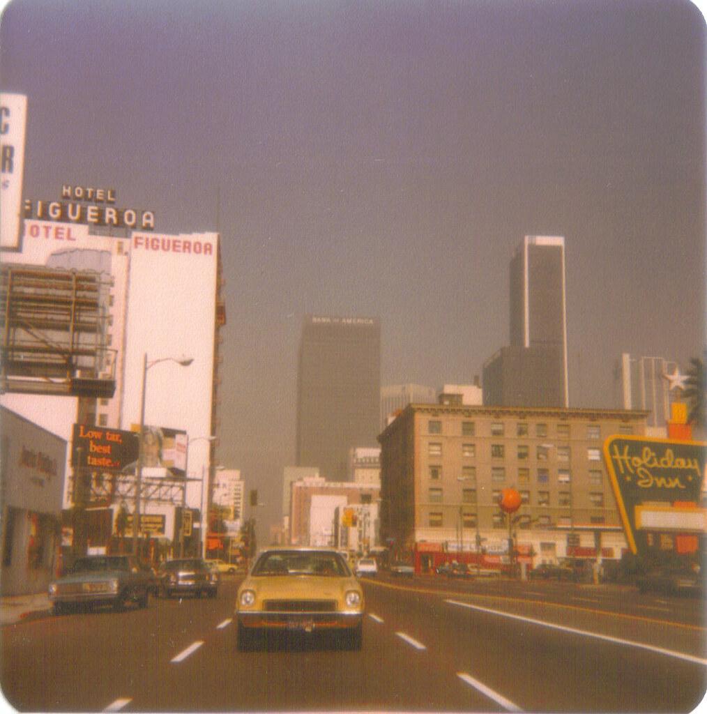 Figueroa Street Downtown Los Angeles 1977 As You