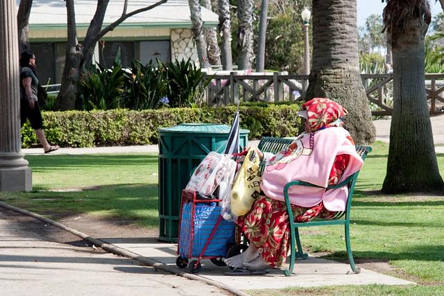 LA - Santa Monica Beach: Homeless