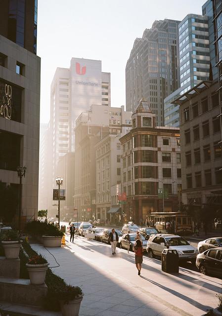 San Francisco financial district - Fujifilm GW690II