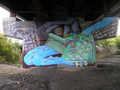 Mural for the Riverfront Park, Rensselaer, NY by O V E R U N D E R