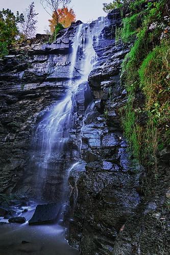 ny newyork nature creek waterfall buffalo dusk magenta upstate niagara falls western region tone mile buttermilk eighteen shale tributary