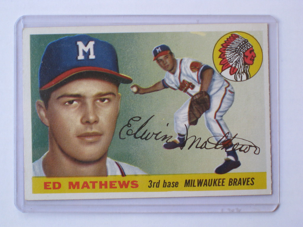 Ed Mathews Ed Mathews 1955 Topps Baseball Card Baseball