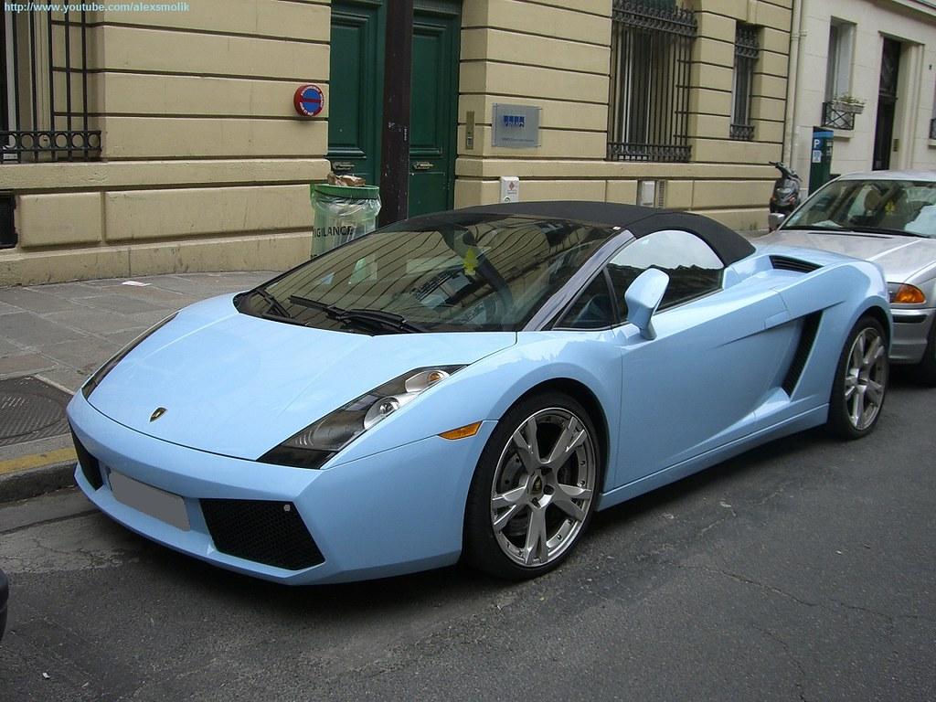 Baby Blue Lamborghini Gallardo Spyder Lamborghini Gallardo Flickr