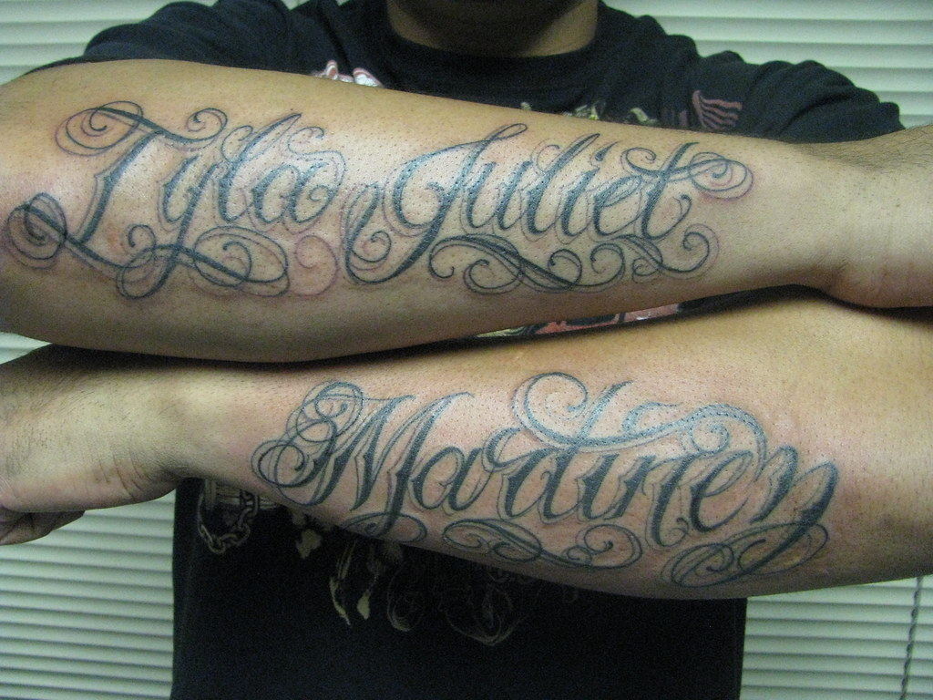 Names on arms