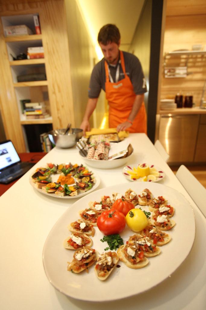 Appalachian State Prepares Bruschetta for their Dinner Party