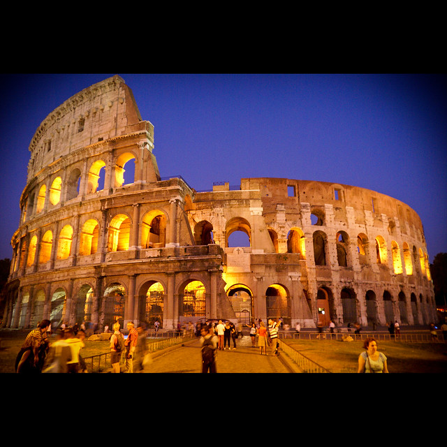 Colosseum at down