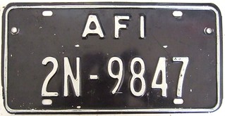 ALLIED FORCES ITALY 1968 SERIES---BLACK PLATE FOR SECOND VEHICLE