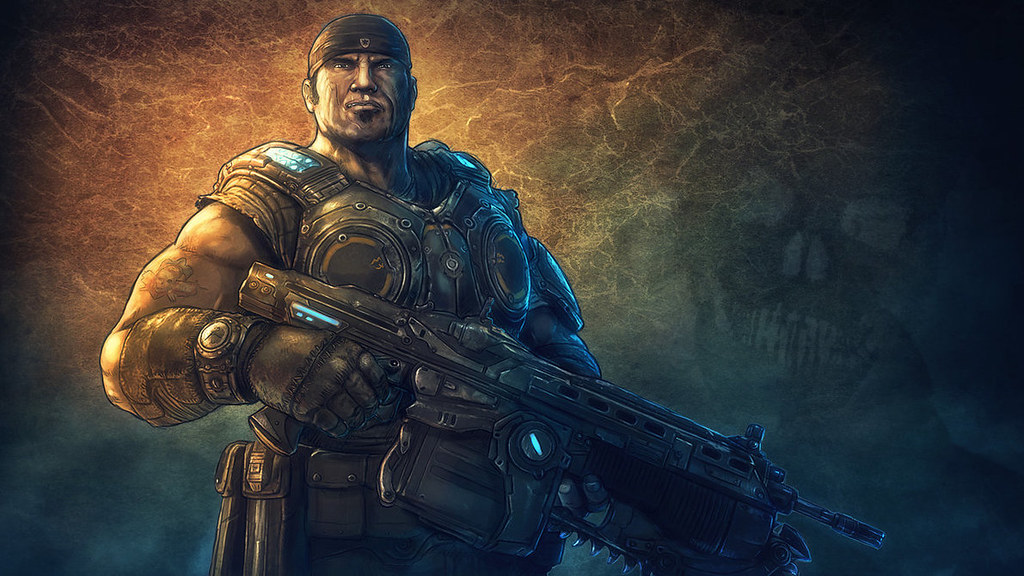 Marcus Fenix Gears Of War 3 By Grafik Justin Lazarus