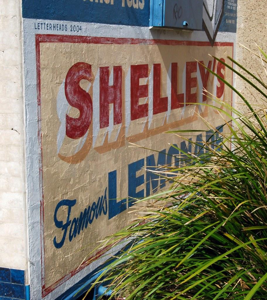 Shelley soft drink sign, Ex Shop, Chiswick, Sydney, NSW.