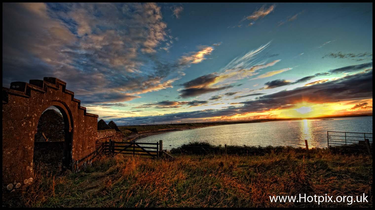 Isle,Of,Lewis,Ruins,church,St,Columbas,old,Aiginis,aignish,Scotland,Island,harris,tweed,tourist,B&B,bed,breakfast,Stornoway,sea,sunset,HDR,stone,gate,waves,lapping,dusk,summer,autumn,evening,tonysmith,tony,smith,hotpix,tonysmithotpix,pano,panorama,joiner,Columba