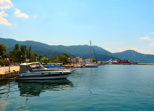 sea ferry port boats coast harbour ships greece greekislands reflexions quayside thassos limenas