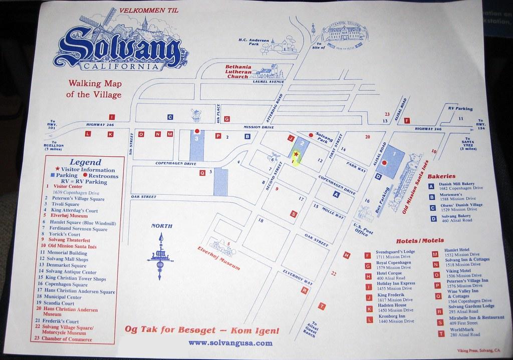 The Walking Map Of Solvang, CA   (September 20, 2011 ... on