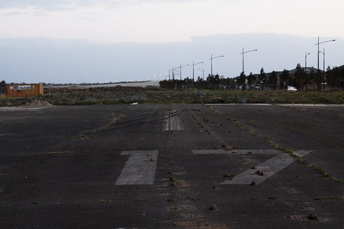 Looking down the remains of runway 17