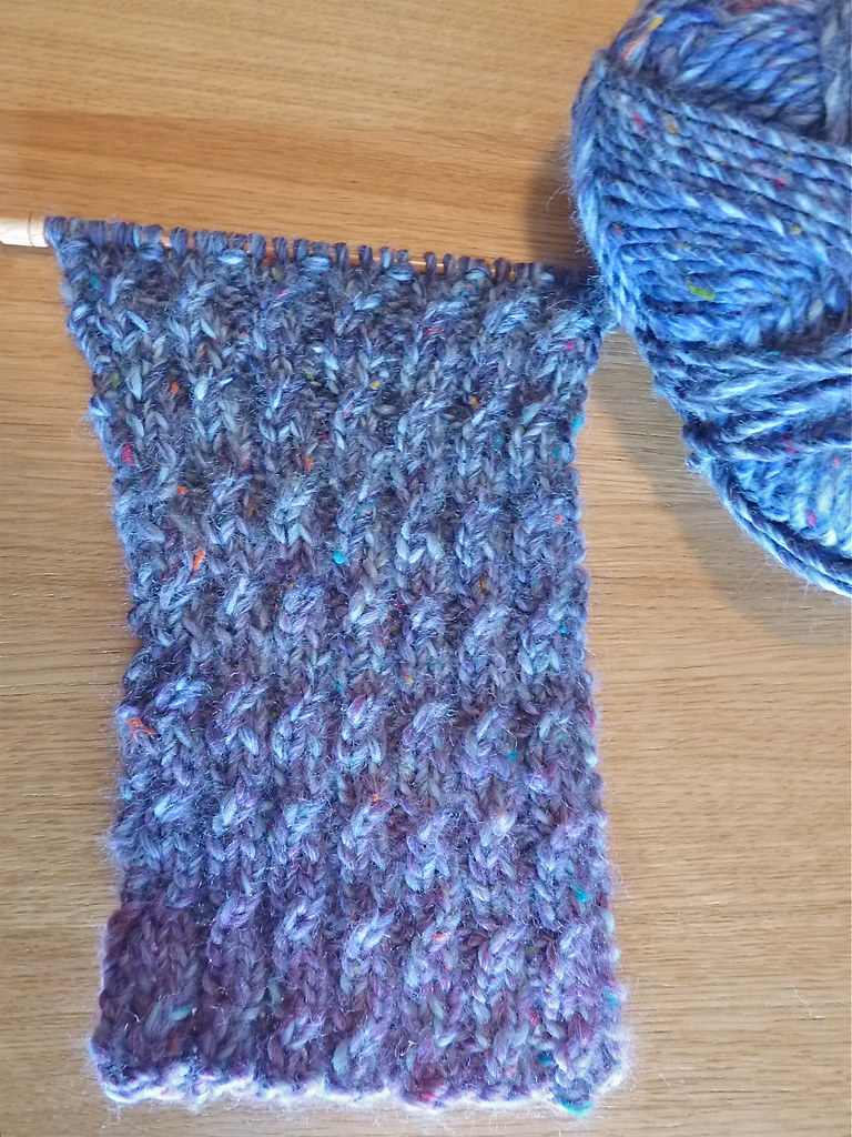Reversible Mock Cable Knit Scarf Original Free Pattern Fou Flickr