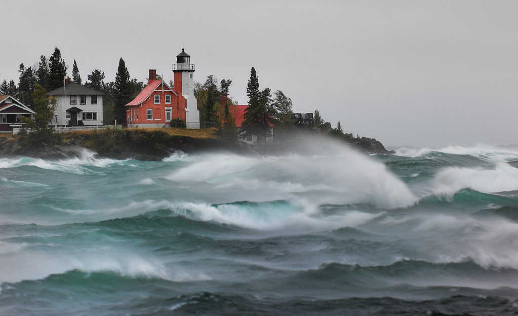 """September Gale""  Eagle Harbor Lighthouse - Eagle Harbor , Michigan"