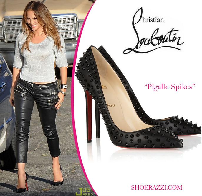 0eae9d85f28 Jennifer Lopez: Christian Louboutin- Black Pigalle Spikes …   Flickr
