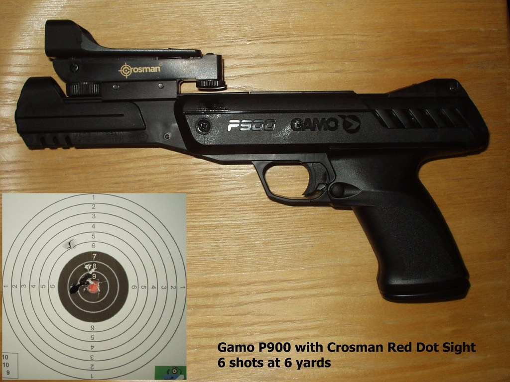 Gamo P900 - 177 - Spring - Red Dot Sight and Target | Flickr